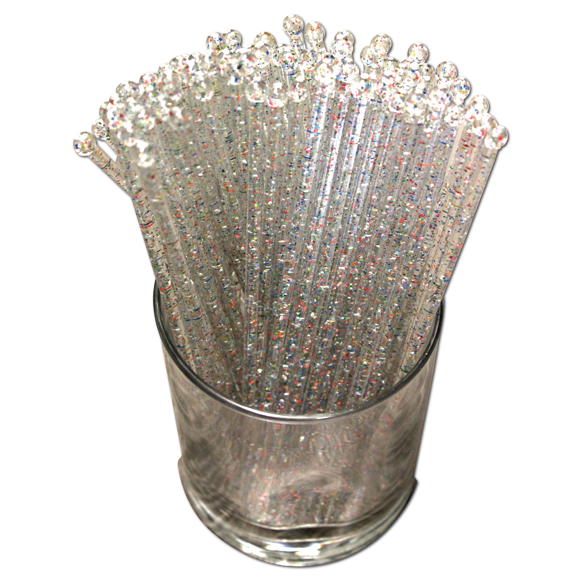 Made In USA Set of 48 Swizzle Sticks Crystal Royer 6 Spiral Beverage Stirrers