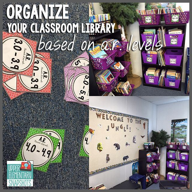 Organize your classroom library with AR book levels - free labels
