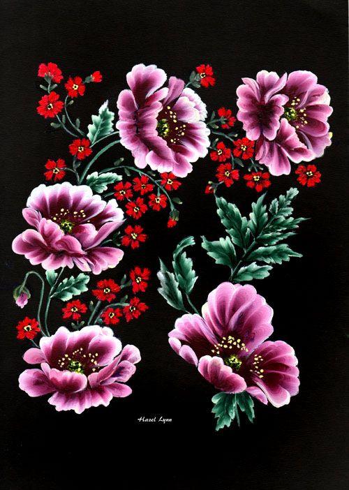 one stroke roses hazel lynn one stroke mod le dessin pinterest fleurs peintes atelier. Black Bedroom Furniture Sets. Home Design Ideas