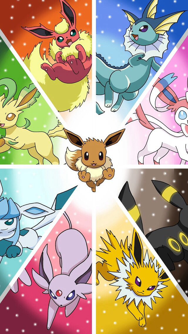 Eeveeloutions Pokemon poster, Pokemon, Pokemon eeveelutions