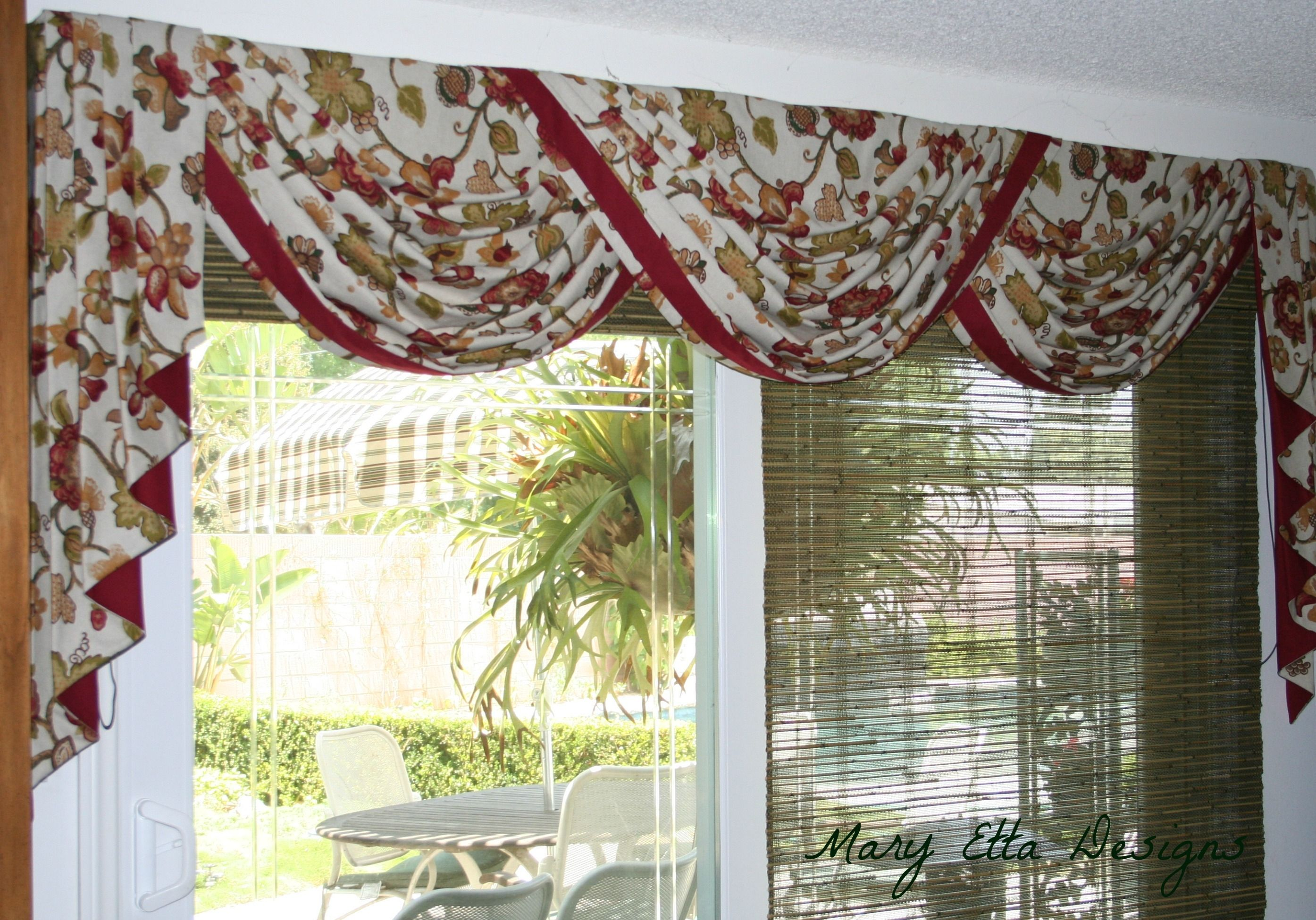 Scarf Valance Sliding Glass Door Home Decor Ideas Cortinas