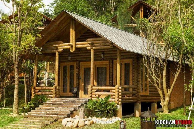 Philea Resorts & Spa, Ayer Keroh, Melaka - log-like cabins