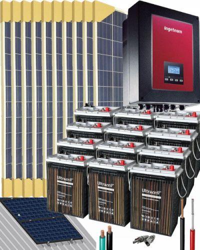 Kit Solar Casa Campo 3000W 24V 6400Whdia Kit solar