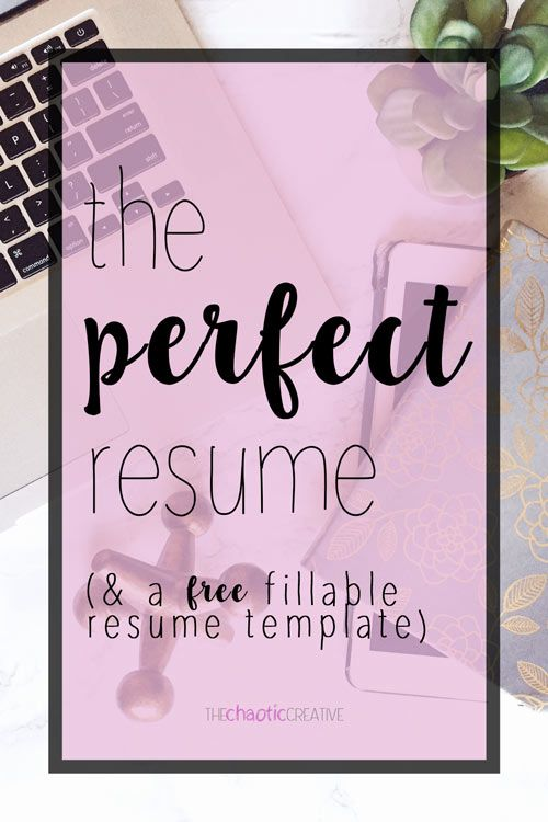 The Perfect Resume Template  Resume    Perfect Resume