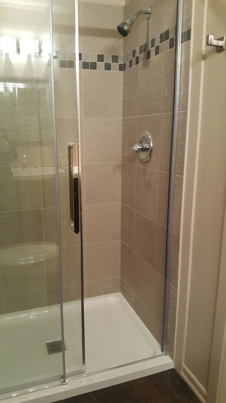 this product is called U-tile an acrylic shower that looks like tile ...