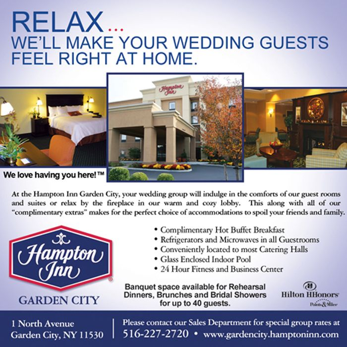 Hampton Inn Garden City Relax We Ll Make Your Wedding Guests