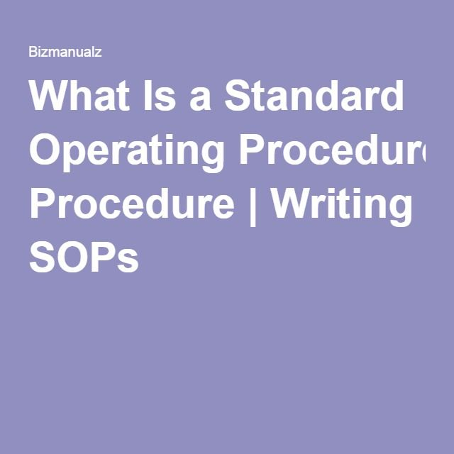 Standard operating procedure template Tools Pinterest - free office procedures manual template