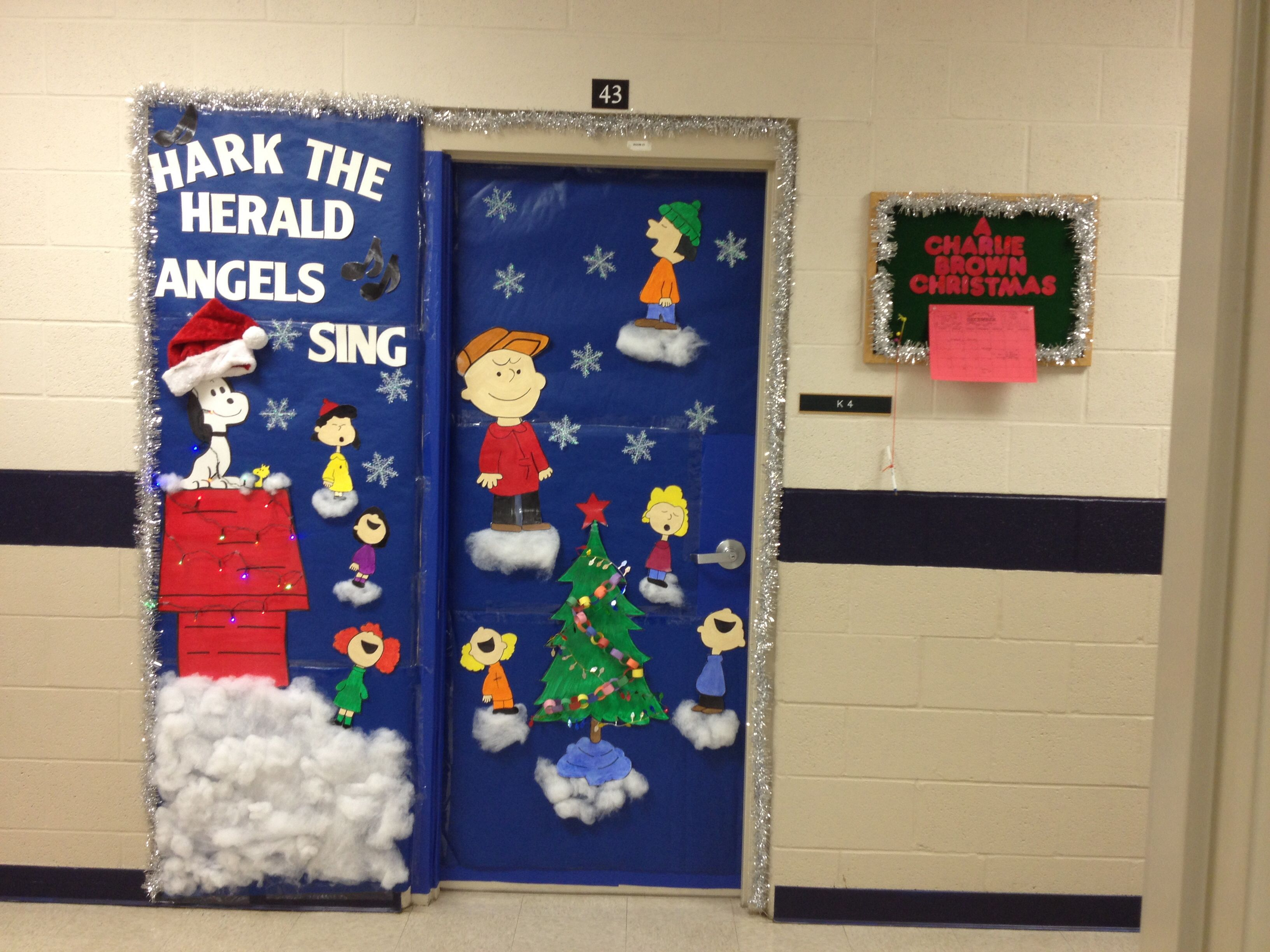 Christmas Classroom Decoration Printables : Charlie brown christmas hark the herald angels sing