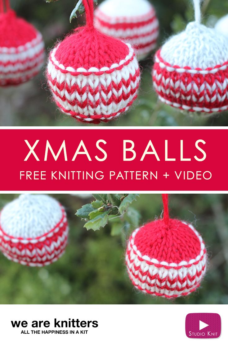 How to knit xmas ball holiday ornaments xmas ornament and christmas knitting patterns bankloansurffo Choice Image