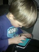 My 5 years old boy plays Angry Birds. Copyright PeeKoo. http://naistenpaivankunniaksi.blogspot.com