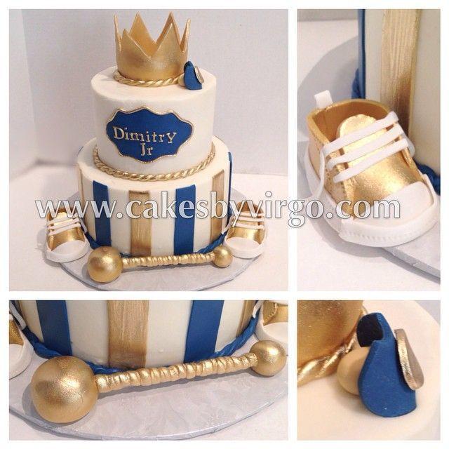 Little Prince Baby Shower Cake Gold Prince Princecake Crown
