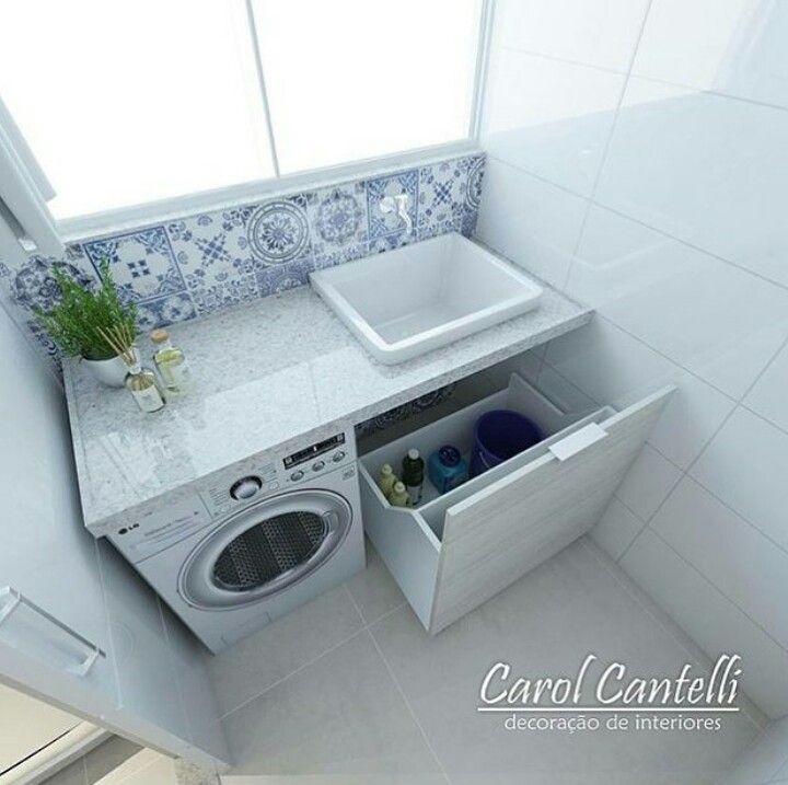 Rea de servi o pequena decor lavanderia pinterest for Lavaderos pequenos modernos