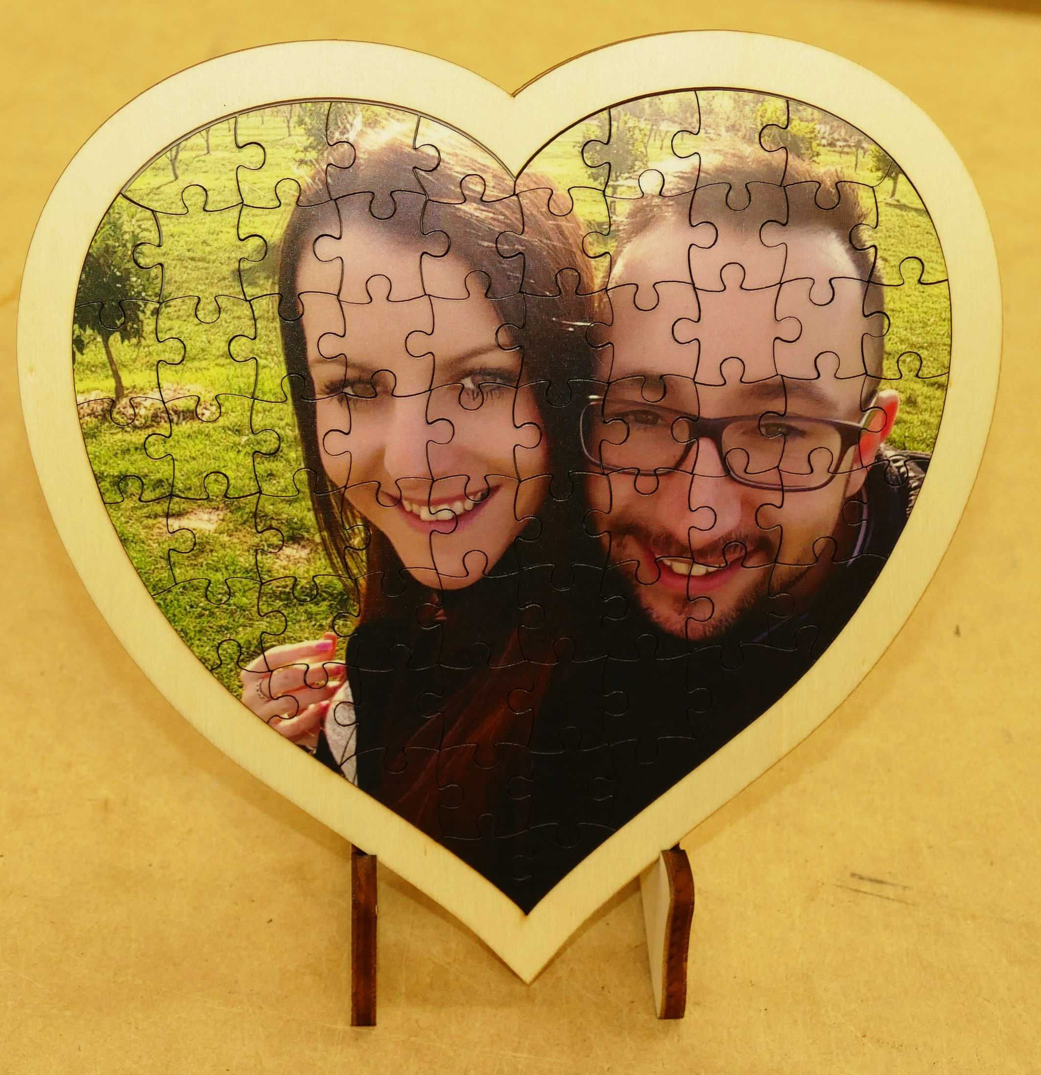 Timber Jigsaw 190 Mm Heart Your Photo Seasonal Gifts Timber Frame Engraved Wood