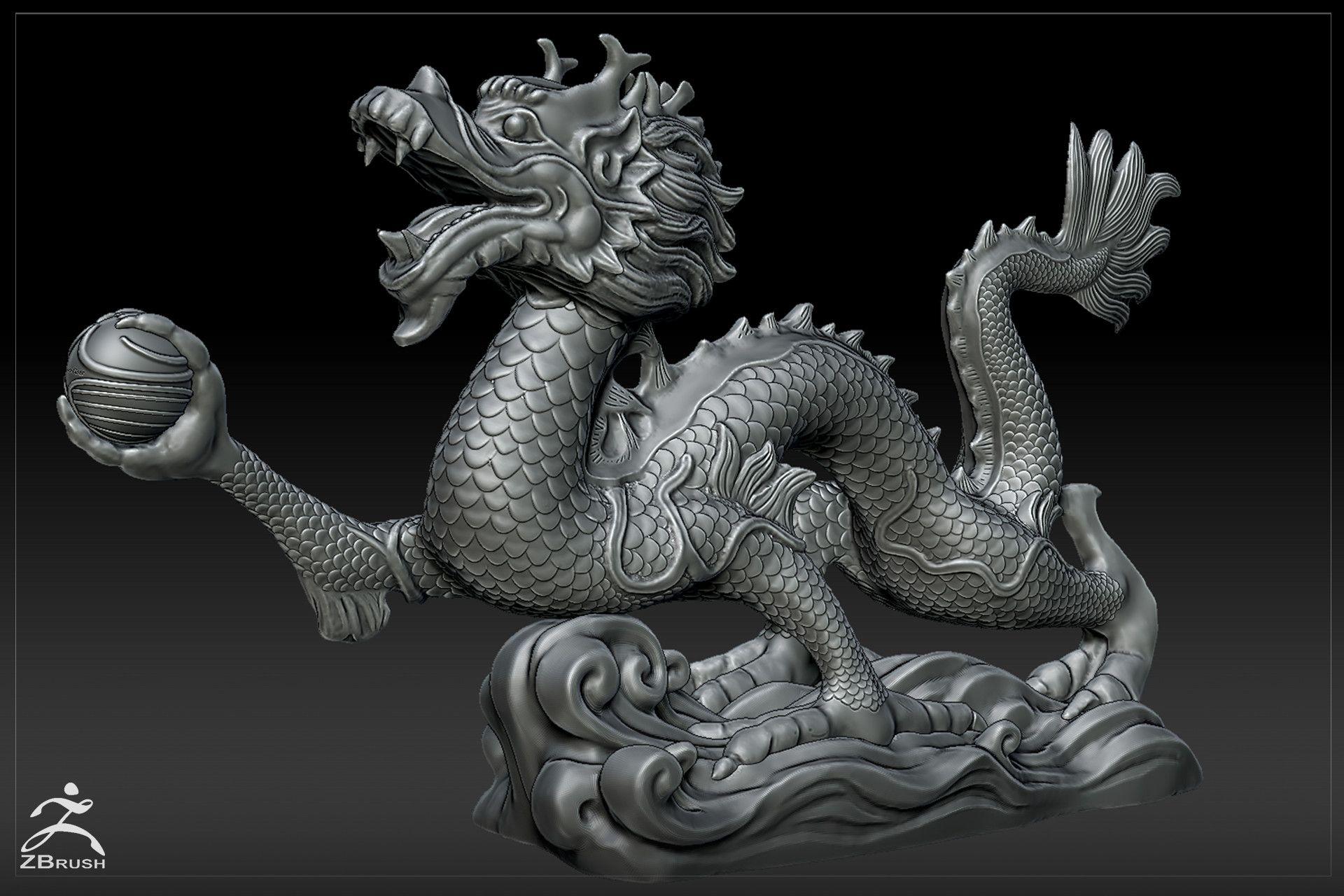 ArtStation Dragon figurine Ognyan Zahariev Refs Props Only D