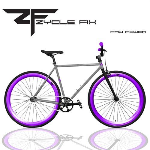 Zycle Fix Black Berry Fixed Gear Single Speed Fixie Bike 2013