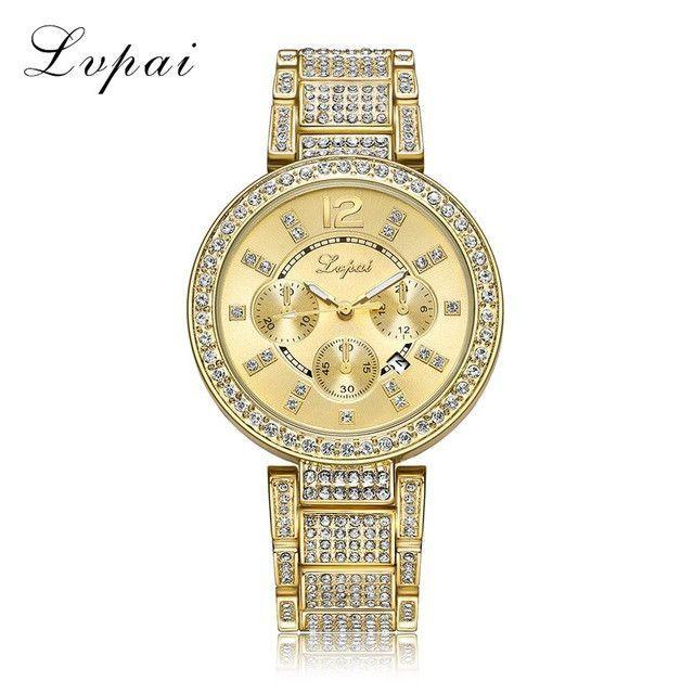 Rhinestone Crystal Quartz Watch