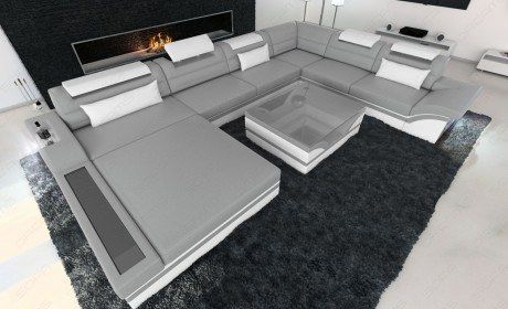 Design Sectional Sofa Orlando Xl With Led Lights Sofa - Lounge Sofa Orlando