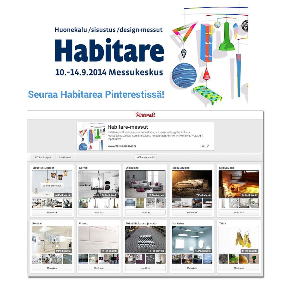 Seuraa Habitarea Pinterestissä! #habitare2014 #design #sisustus #messut #helsinki #messukeskus