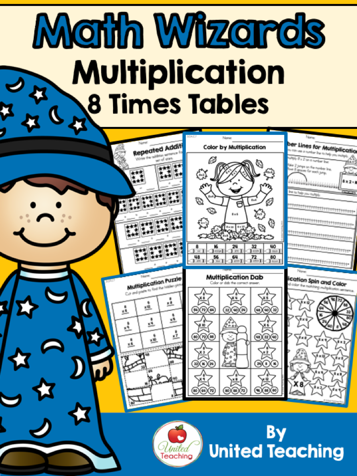 Children Master The 8 Times Tables And Become Math Wizards Math Educational Worksheets Teaching