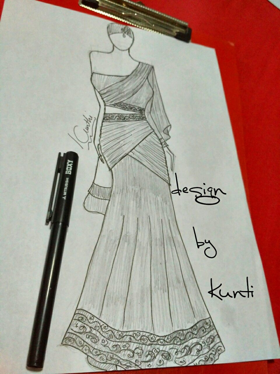 Indiandress Fashion Drawing Tutorial Design Sketch Art Dress