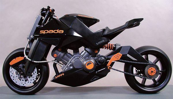 Motorcycle design and model - Spada. by Bruce Thomson, via Behance