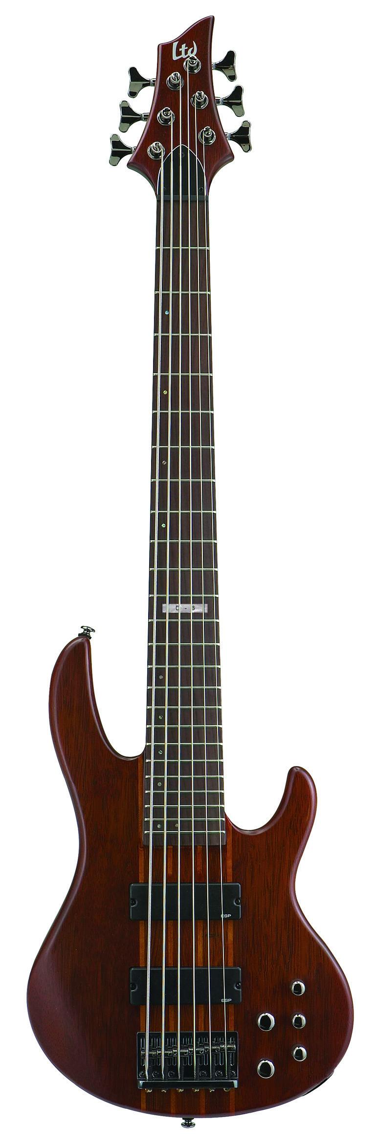 Esp ltd d6 d series bass guitar natural satin finish