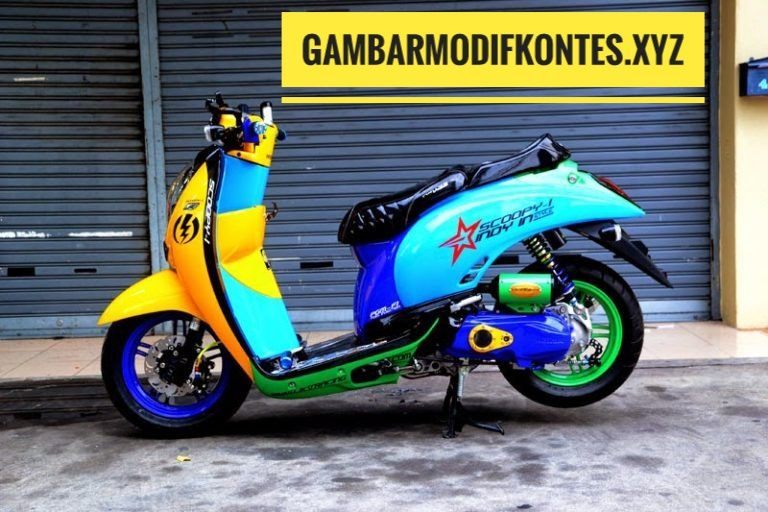 Foto Gambar Modifikasi Motor Scoopy Konsep Thailook Simple Unik