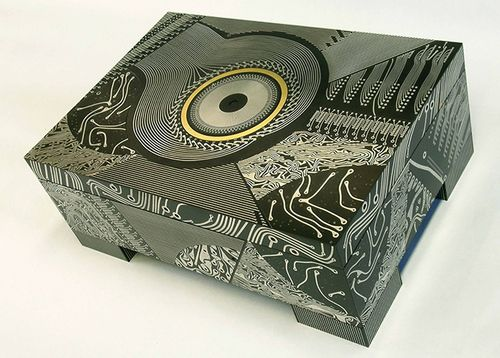 harlequin chest designed from vintage circuit boards artist theo rh pinterest com