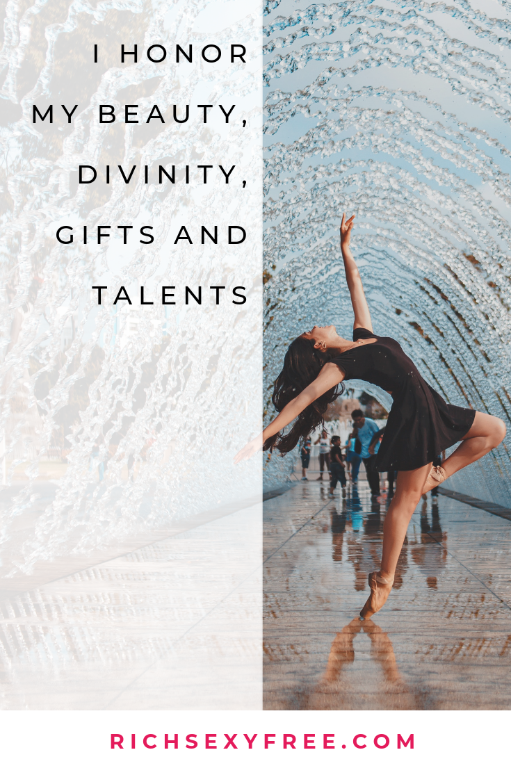 You are beautiful, talented + fierce Use this affirmation