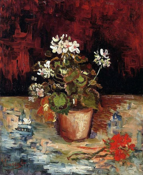 Vincent van Gogh - Geranium in a Pot - 1886.