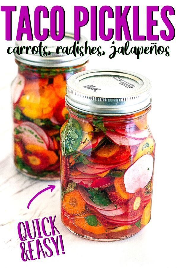 Taco Pickles - Quick Taqueria-Style Pickled Carrot