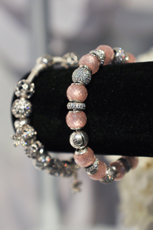 bine shimmering and soft pink charms for a feminine bracelet