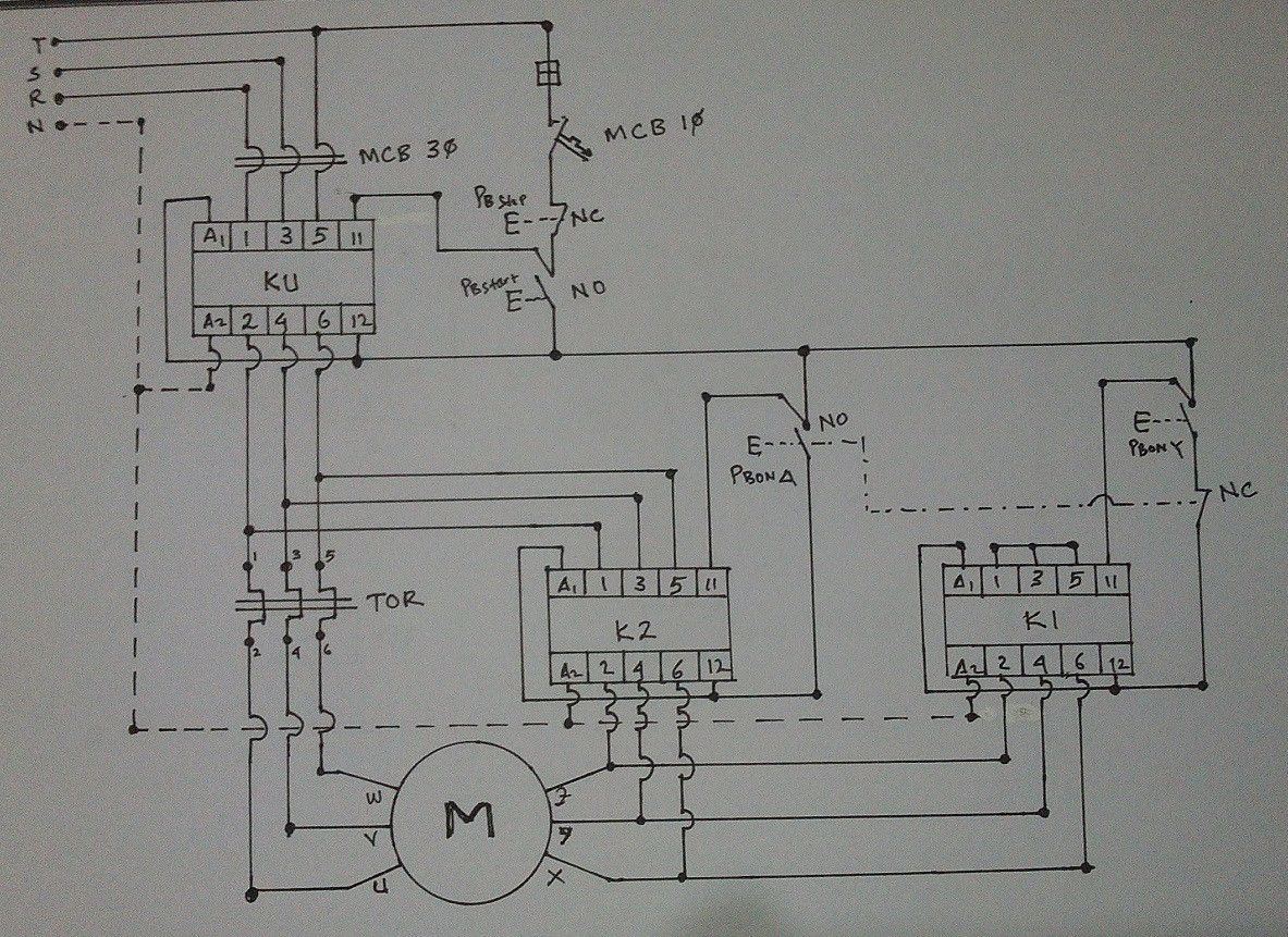 WIRING DIAGRAM STAR DELTA CONNECTION IN 3 PHASE INDUCTION MOTOR Endear Wiring  Diagram Star Delta Starter