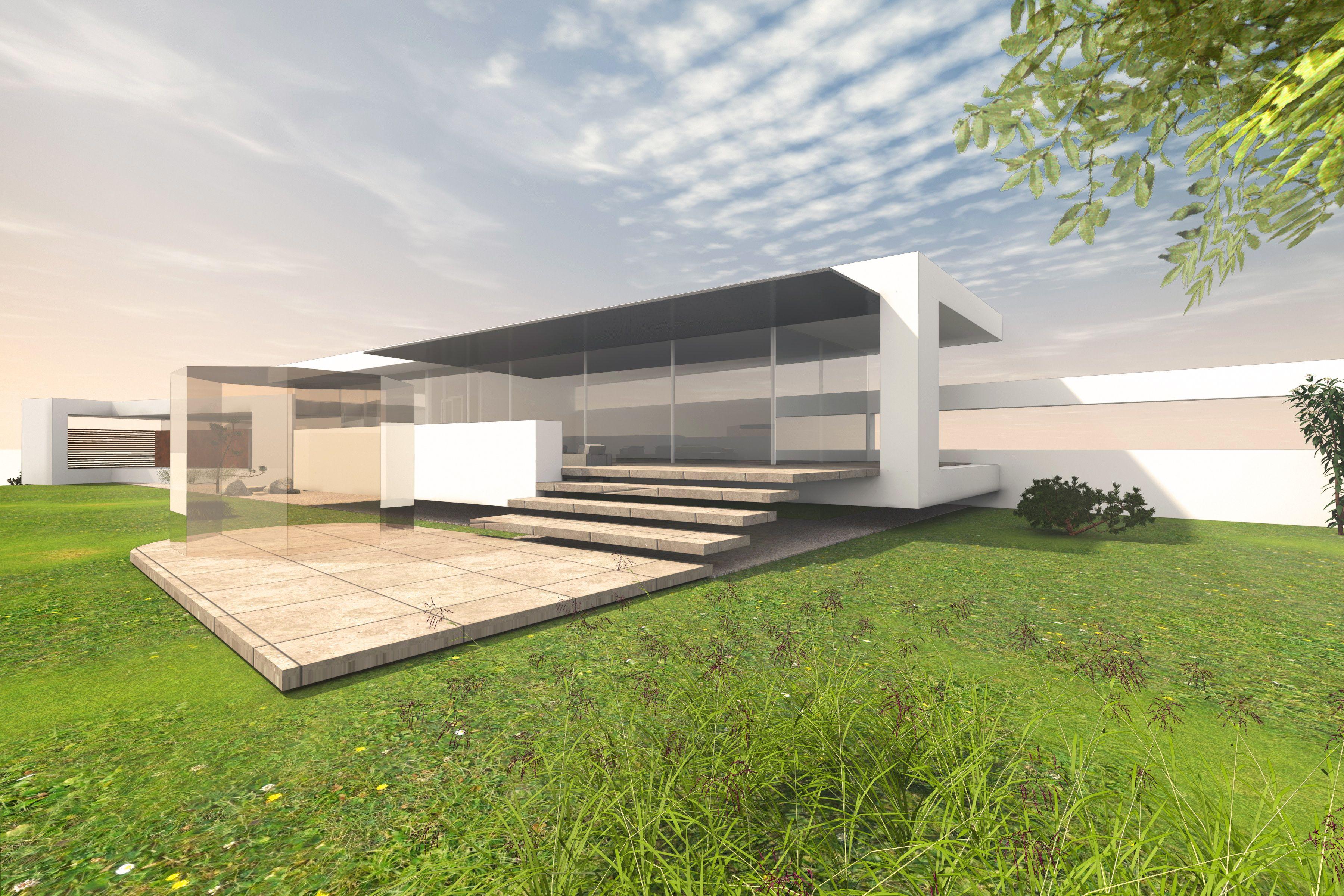 Modernes luxushaus als bungalow in moderner architektur for Modernes luxushaus