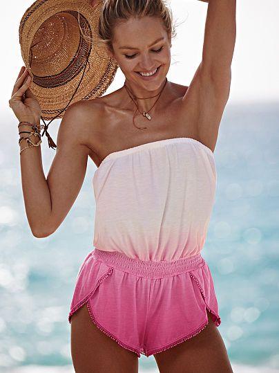 a766cf7f739 Strapless Cover-up Romper - Victoria s Secret