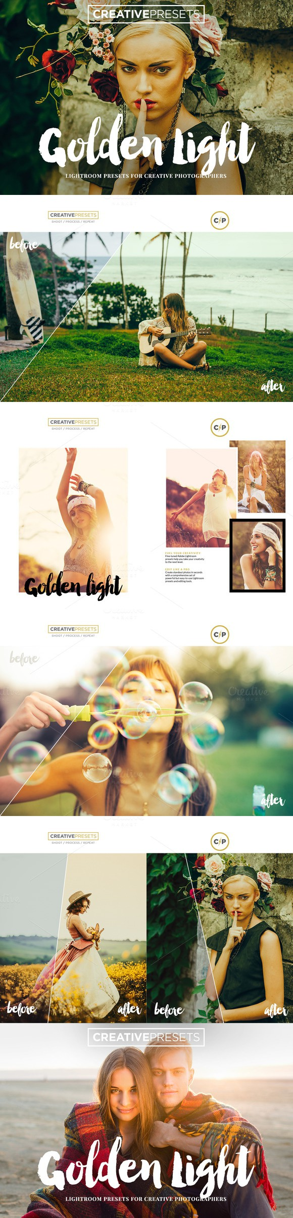 Golden Light Lightroom Presets. Actions. $19.00