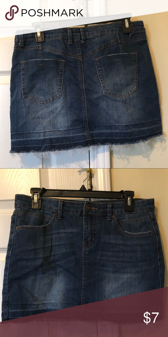 5e757d6515 Jean Skirt Size : Medium ( Juniors ) Rue21 Skirts Mini Jean Skirt, Rue 21
