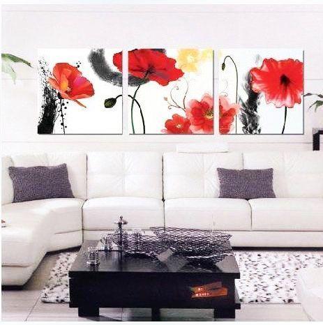 """Abstracto Cuadro Rojo Lona Remolinos grandes modernas de 42/"""" X 20/"""""""