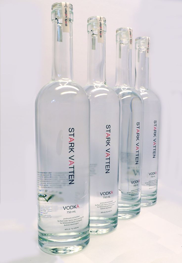 Stark Vatten Vodka printed by Universal Packaging topped off with a Vinoseal closure. #coolbottle #bottledesign #screenprinting #vodka