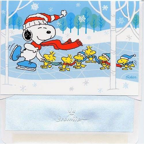 Fun--Snoopy and his troop play 'crack-the-whip' on ice. | Peanuts ...