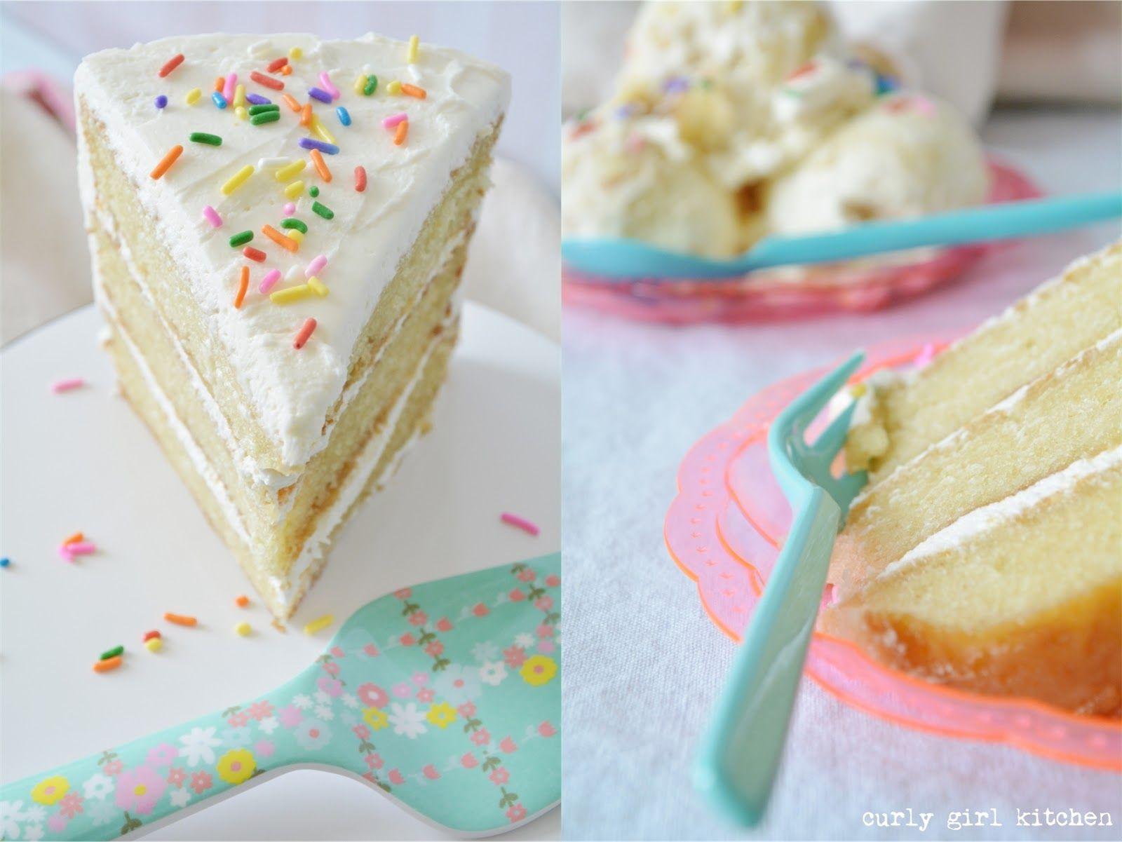 Birthday cake ice cream curly girl kitchen in 2020