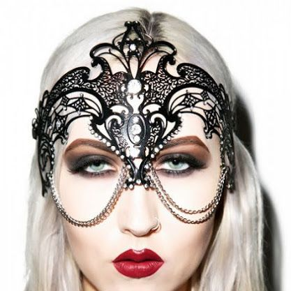 ALINE DUFAULT - Google+ Bejeweled Runway Masks