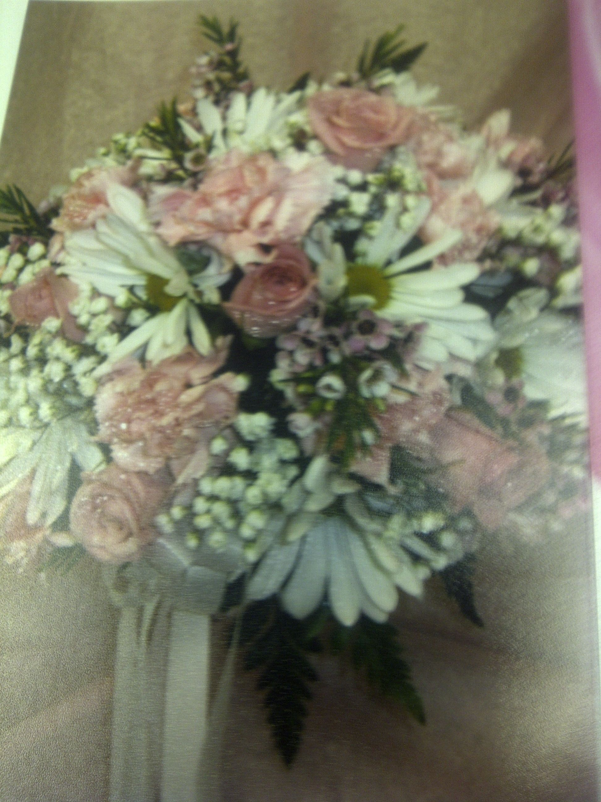 These are the flowers she picked... they are adding some lavender ones too