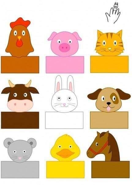 Finger Puppet Templates Farm Animals Puppets