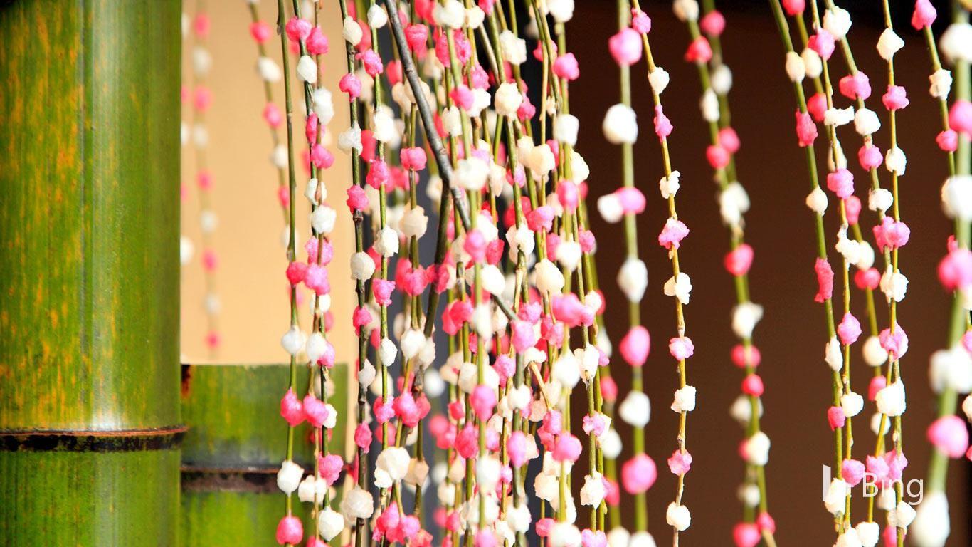 2019.1.2 『「餅花」』餅花はお正月や小正月に飾られる縁起物。商店街 ...