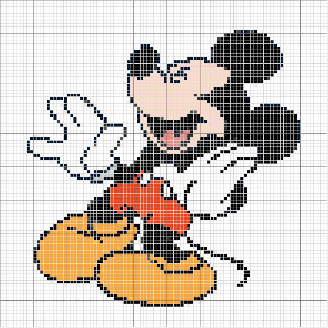 Patrones de Mickey Mouse en punto de cruz gratis - Imagui | Cross ...