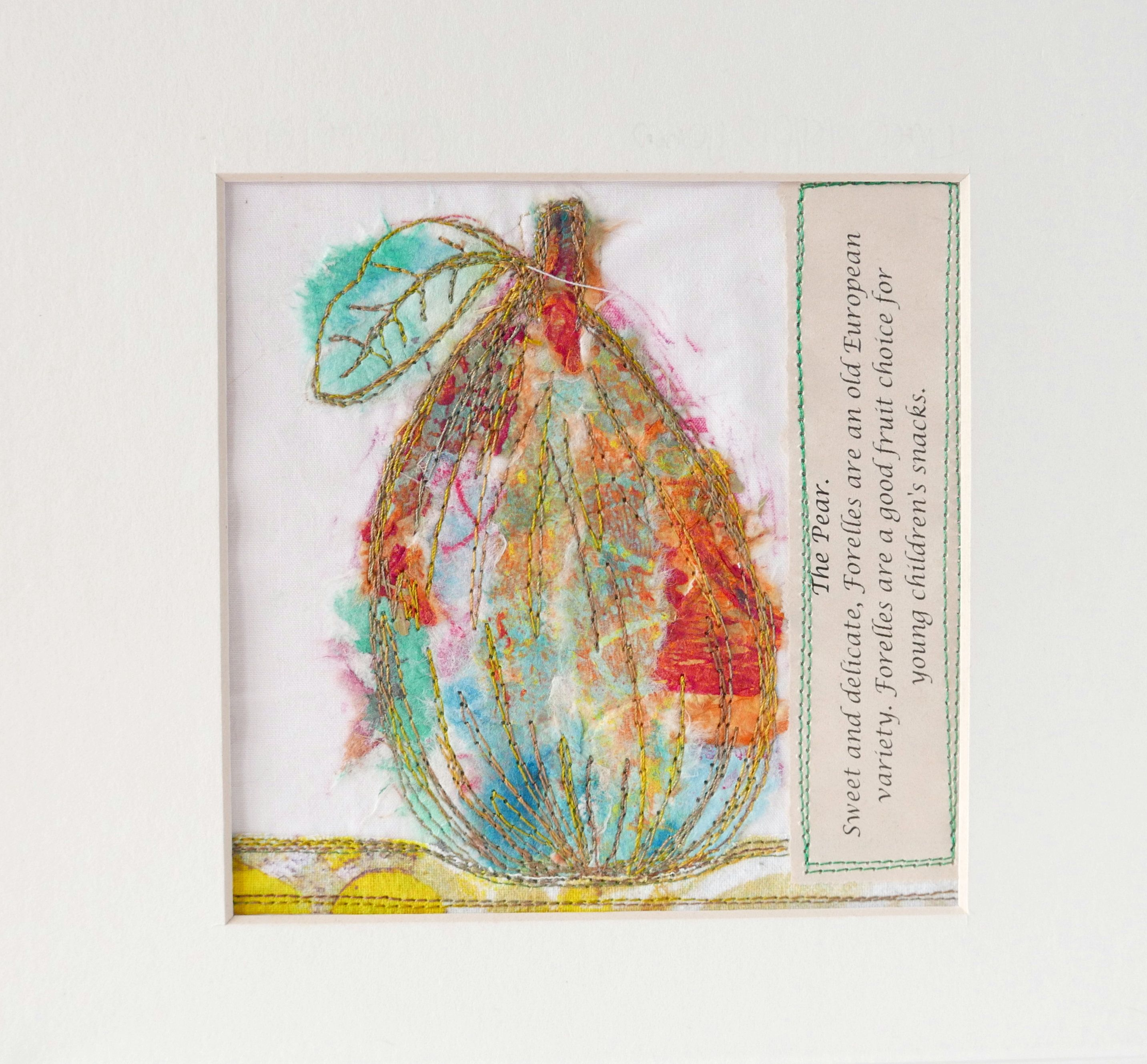 fruit art picture of a pear kitchen or dining room wall decor