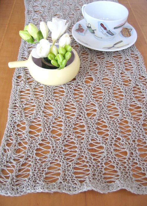 Jennysbreakfastrunner60web60 home knitted things Pinterest Cool Crochet Table Runner Pattern