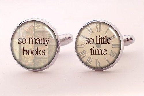 Frank Zappa Quote Cufflinks, So many books so little time cufflinks