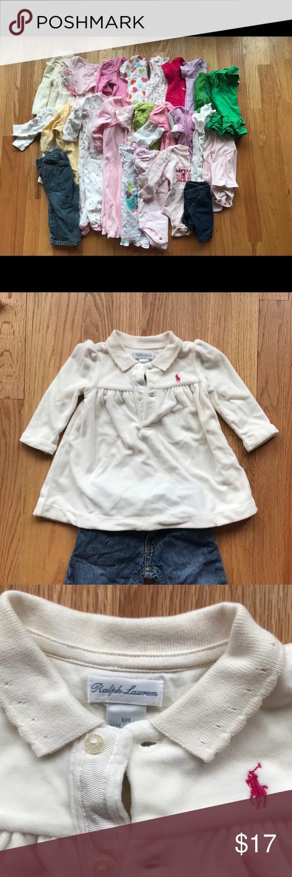 7b20ccd0 Ralph Lauren , Gap , Carter's Baby girls clothes 25 pieces of baby ...